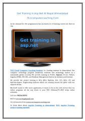 Get Training In Asp.Net At Bopal-Ahmedabad.doc