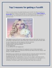 Top 5 reasons for getting a Facelift.pdf