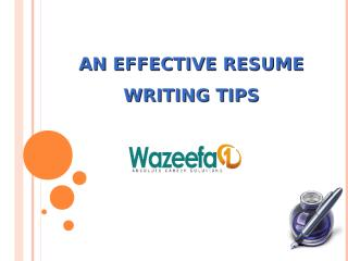 Resume writing tips.ppt