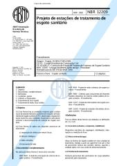 NBR 12209 - 1992 - Projeto de Estações de Tratamento de Esgoto Sanitários.pdf