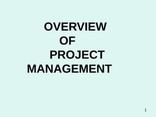 PROJECT MANAGEMENT COURSE-PROF KANE.ppt