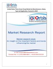 United States Three-Screw Pump Market by Manufacturers, States, Type and Application, Forecast to 2022.pdf