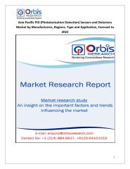Asia-Pacific PID (Photoionization Detection) Sensors and Detectors Market by Manufacturers, Regions, Type and Application, Forecast to 2022.pdf
